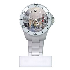 Venice Small Town Watercolor Plastic Nurses Watch by BangZart