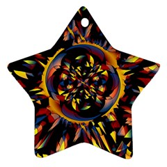 Spiky Abstract Star Ornament (two Sides) by linceazul