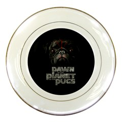 Dawn Of The Planet Of The Pugs Porcelain Display Plate by allthingseveryday