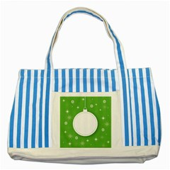 Christmas Bauble Ball Striped Blue Tote Bag by BangZart