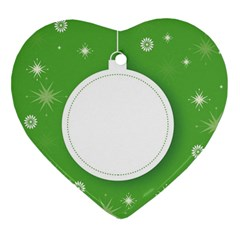 Christmas Bauble Ball Heart Ornament (two Sides) by BangZart