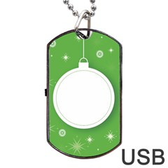 Christmas Bauble Ball Dog Tag Usb Flash (one Side) by BangZart