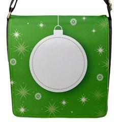 Christmas Bauble Ball Flap Messenger Bag (s) by BangZart