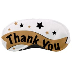 Thank You Lettering Thank You Ornament Banner Sleeping Masks by BangZart