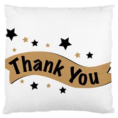 Thank You Lettering Thank You Ornament Banner Large Cushion Case (one Side) by BangZart