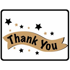 Thank You Lettering Thank You Ornament Banner Double Sided Fleece Blanket (large)  by BangZart