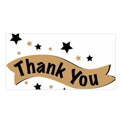 Thank You Lettering Thank You Ornament Banner Satin Shawl