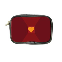 Heart Red Yellow Love Card Design Coin Purse by BangZart