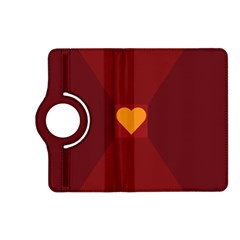 Heart Red Yellow Love Card Design Kindle Fire Hd (2013) Flip 360 Case by BangZart