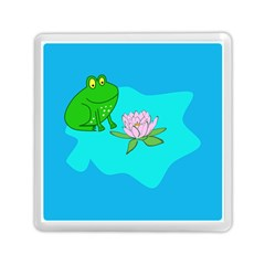 Frog Flower Lilypad Lily Pad Water Memory Card Reader (square)  by BangZart