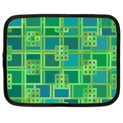 Green Abstract Geometric Netbook Case (xl)