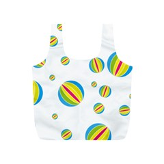 Balloon Ball District Colorful Full Print Recycle Bags (s)  by BangZart