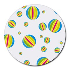 Balloon Ball District Colorful Round Mousepads