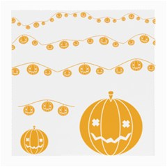 Pumpkin Halloween Deco Garland Medium Glasses Cloth (2 Side) by BangZart