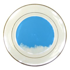 Sky Blue Blue Sky Clouds Day Porcelain Plates by BangZart