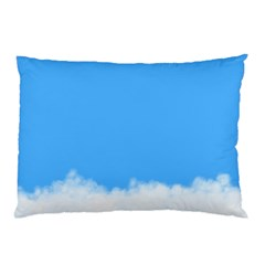 Sky Blue Blue Sky Clouds Day Pillow Case by BangZart