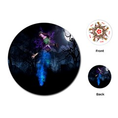 Magical Fantasy Wild Darkness Mist Playing Cards (round)  by BangZart