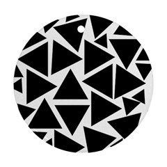 Template Black Triangle Ornament (round) by BangZart
