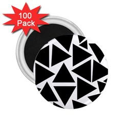 Template Black Triangle 2 25  Magnets (100 Pack)  by BangZart