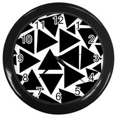 Template Black Triangle Wall Clocks (black) by BangZart