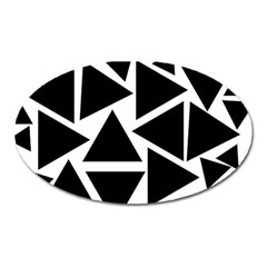 Template Black Triangle Oval Magnet