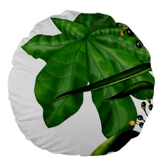 Plant Berry Leaves Green Flower Large 18  Premium Round Cushions by BangZart