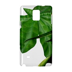 Plant Berry Leaves Green Flower Samsung Galaxy Note 4 Hardshell Case by BangZart