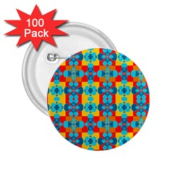 Pop Art Abstract Design Pattern 2 25  Buttons (100 Pack)  by BangZart