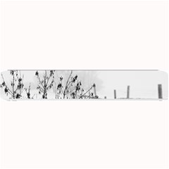 Snow Winter Cold Landscape Fence Small Bar Mats by BangZart