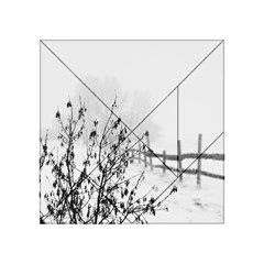 Snow Winter Cold Landscape Fence Acrylic Tangram Puzzle (4  X 4 ) by BangZart