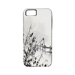Snow Winter Cold Landscape Fence Apple Iphone 5 Classic Hardshell Case (pc+silicone)