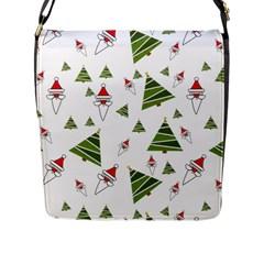 Christmas Santa Claus Decoration Flap Messenger Bag (l)  by BangZart