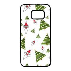 Christmas Santa Claus Decoration Samsung Galaxy S7 Black Seamless Case