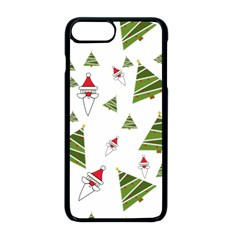 Christmas Santa Claus Decoration Apple Iphone 8 Plus Seamless Case (black)