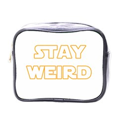 Stay Weird Mini Toiletries Bags by Valentinaart