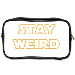 Stay Weird Toiletries Bags 2 Side by Valentinaart