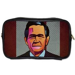 George W Bush Pop Art President Usa Toiletries Bags 2 Side by BangZart