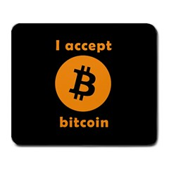 I Accept Bitcoin Large Mousepads by Valentinaart