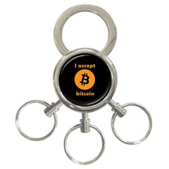 I Accept Bitcoin 3 Ring Key Chains by Valentinaart