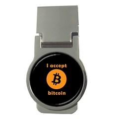 I Accept Bitcoin Money Clips (round)  by Valentinaart
