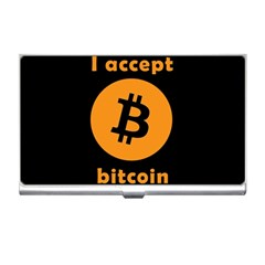I Accept Bitcoin Business Card Holders by Valentinaart