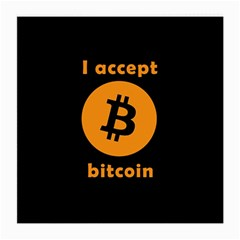 I Accept Bitcoin Medium Glasses Cloth (2 Side) by Valentinaart