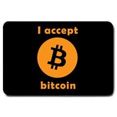 I Accept Bitcoin Large Doormat  by Valentinaart