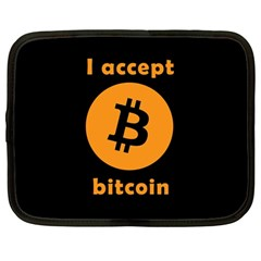 I Accept Bitcoin Netbook Case (large) by Valentinaart