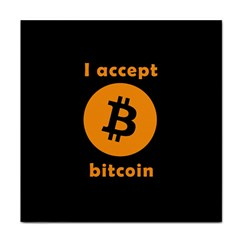 I Accept Bitcoin Face Towel by Valentinaart