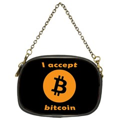 I Accept Bitcoin Chain Purses (one Side)  by Valentinaart