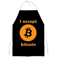 I Accept Bitcoin Full Print Aprons by Valentinaart