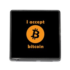 I Accept Bitcoin Memory Card Reader (square) by Valentinaart