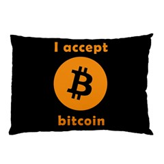 I Accept Bitcoin Pillow Case (two Sides) by Valentinaart