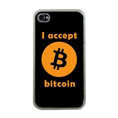 I Accept Bitcoin Apple Iphone 4 Case (clear) by Valentinaart